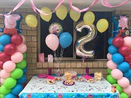 peppa pig decorations peppa pig balloon decorations megaloon number 2 brisbane balloon