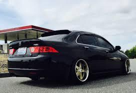 Slammed Car Memes - acura tsx accord euro r 18in wheels slammed black and gold honda cl7