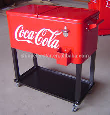 patio beverage cooler cart metal amherst 80 qt cooler rolling patio chest
