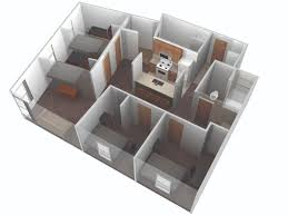 Floor Plan Of A Living Room Wolf Village Apartments