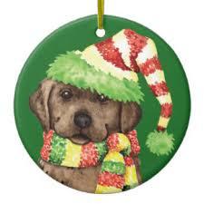 chocolate lab christmas tree decorations u0026 baubles zazzle co nz