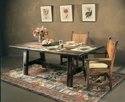 Western Dining Room Tables by Custom Rustic Trestle Dining Table Southwest Furniture Santa Fe