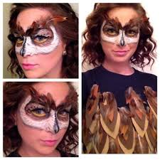 Owl Halloween Costume Pattern Owl Mask Makeup Tutorial Youtube