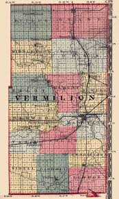 Map Of Illinois And Indiana by Vermilion County Illinois Maps And Gazetteers