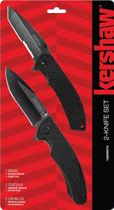 kershaw kitchen knives set kershaw 1322kitx 2 knife set assisted opening blackwash utility