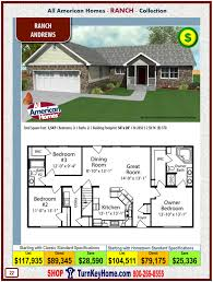andrews all american homes ranch ranch collection modular home