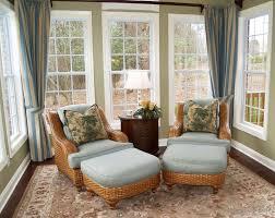 interior contemporary sunroom design with cozy cream sofa and