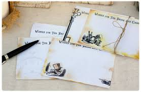 Wishes For The Bride And Groom Cards Alice In Wonderland Wedding Cards Wishes For The Bride And Groom