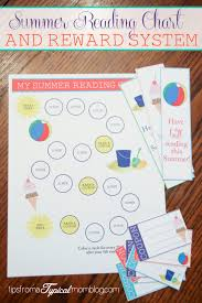 reading chart and reward system for kids