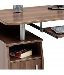 Compact Computer Cabinet Elver Compact Walnut Desk Piranha Trading