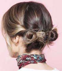 easy messy buns for shoulder length hair 7 cool and easy buns that work for short hair byrdie au