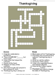 Date Of First Thanksgiving The 25 Best Thanksgiving Crossword Puzzle Ideas On Pinterest