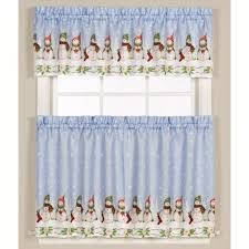 Winter Scene Shower Curtain by Winter Wonderland Snowman Kitchen Curtain Altmeyer U0027s Bedbathhome