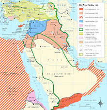 A Map Of The Middle East by Historical Maps Of The Middle East