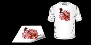 t shirt transfers are printed on white heat transfer paper after