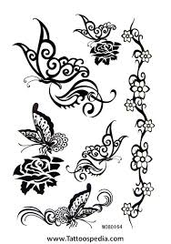 butterfly tattoos black and white 3