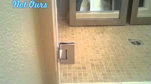 Leaking Frameless Shower Door by Not Our Frameless Shower With Seals Youtube