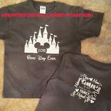 disney family vacation park t shirts using my silhouette cameo and
