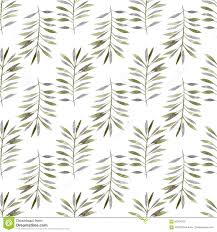 green watercolor hand drawn leaves and branches for wallpaper or