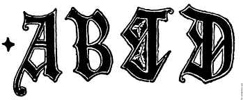 a b c d from english gothic letters 15th century