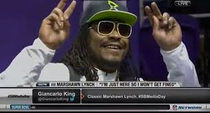 Marshawn Lynch Memes - marshawn lynch i m just here so i won t get fined what s trending