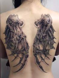 Wing Back Tattoos For - wing tattoos across the shoulders and back articles