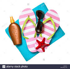 flip flop towel accessories flip flops towel sun lotion and