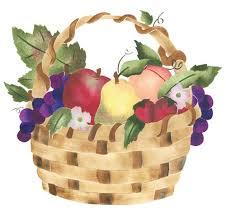 wall fruit basket fruit basket wall stencil