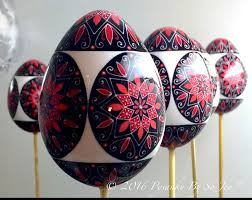 Easter Tree Decorations Canada by 406 Best Pysanky And Batik Easter Eggs By Sojeo Images On