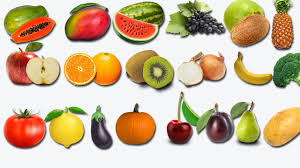 learning fruits and vegetables names in english for children