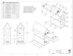 House Construction Blueprints Cat House Plans Indoor Chuckturner Us Chuckturner Us