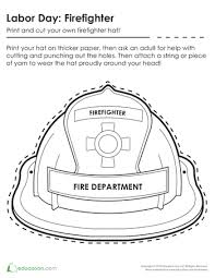 mailman hat coloring page make a firefighter hat with your children to show appreciation for