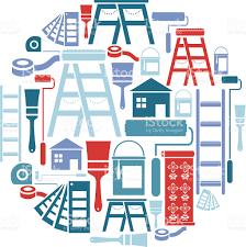 painting and decorating icon set stock vector art 165930015 istock