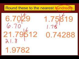 rounding decimals youtube