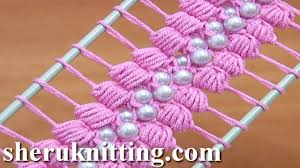 hairpin lace hairpin lace crochet tutorial 38 the puff stitch beaded