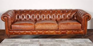 Used Chesterfield Sofa For Sale by Pasargad Chester Bay Tufted Genuine Leather Chesterfield Sofa