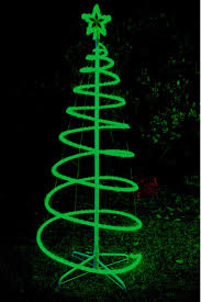 120cm green solar led spiral tree rope light outdoor spiral