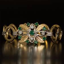 emerald diamond gold bracelet images 18ct gold emerald diamond bracelet jpg