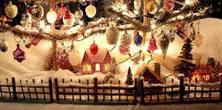 Christmas Village Window Decorations by Putz Christmas Village Christmas Putz