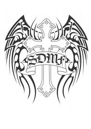 wings tribal cross black designs with 28 more ideas