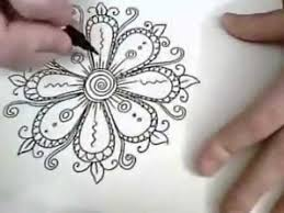 ornament flowers are ink drawing