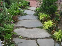 beautiful stone masonry patio blue flagstone path to brick patio