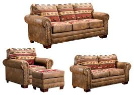 Rustic Living Room Set American Furniture Living Room Sets Lodge 4 Set With