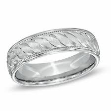 Sterling Silver Comfort Fit Wedding Bands Men U0027s 6 0mm Diamond Cut Comfort Fit Wedding Band In Sterling