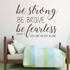 Christian Home Decor Amazon Com Bible Verse Wall Decal Joshua 1 9 Be Strong Be