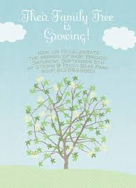 baby shower tree baby shower invitations growing family tree at minted