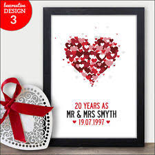 20th wedding anniversary gift 20th wedding anniversary ebay