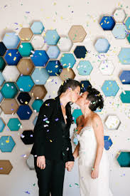 Photo Back Drop How To Geometric Hexagon Box Wedding Backdrop A Practical