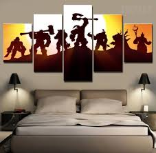 Nerd Home Decor World Of Warcraft Horde 5 Piece Canvas Horde And Canvases