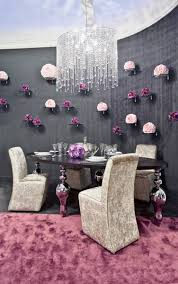 purple dining room ideas glamorous dining room decorating ideas velvet silver and crystals